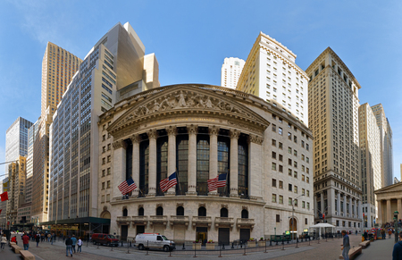 capitalization: NEW YORK CITY, USA -  AUGUST 2016: The New York Stock Exchange on Wall Street is the largest stock exchange in the world. Editorial