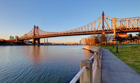 queens: Queensboro Bridge, New York City at sunrise