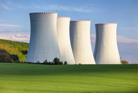 Kerncentrale Stockfoto