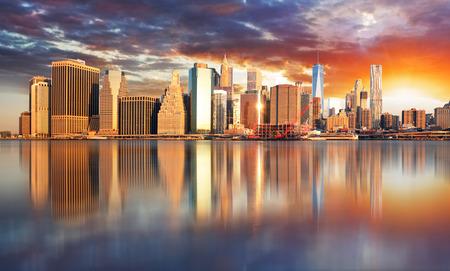 water buffalo: New York City, Manhattan, downtown, NYC, USA.