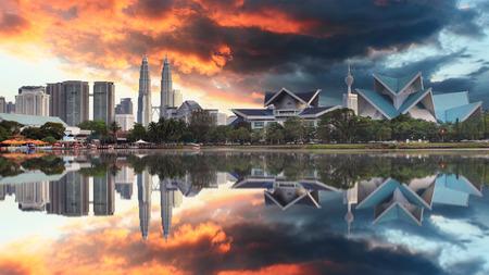 titiwangsa: Malaysia at sunset, Kuala Lumpur