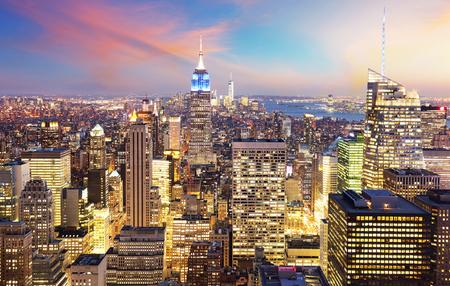 ニューヨーク市のマンハッタンのスカイライン