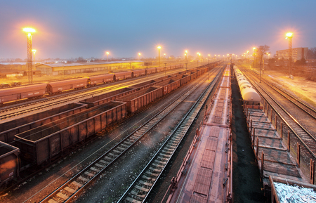 railway transportation: Train railway with freight station, Transportation