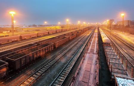 railway transportation: Train railway with freight station, Transportation