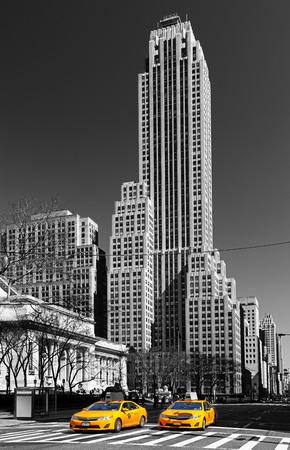 黄色のタクシー ニューヨーク市、アメリカ合衆国 写真素材 - 59200259
