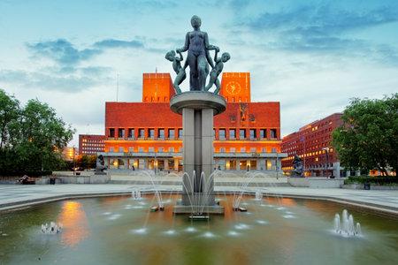 guildhall: City Hall - Radhuset, Oslo, Norway