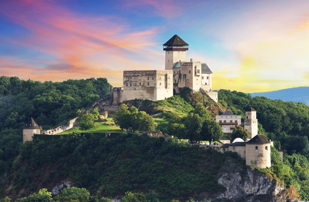heritage protection: Castle Trencin, Slovakia Editorial