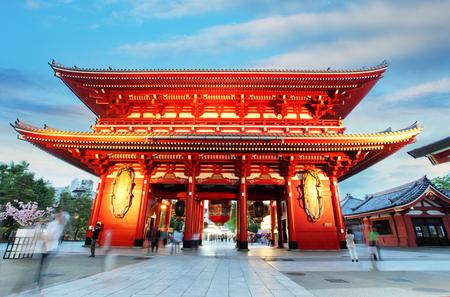 Asakusa temple with pagoda, Tokyo, Japan