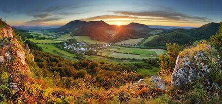 carpathian mountains: Forest - mountain panoramic view Stock Photo
