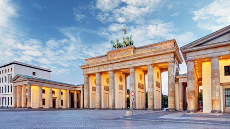 Berlin, brandenburg at sunrise, Germany