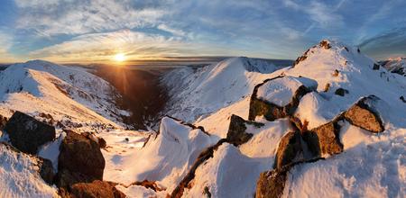 mountain landscape: Panorama winter landscape mountain, Slovakia