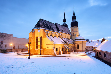saint nicolas: Trnava church, Slovakia - Saint Nicolas at winter