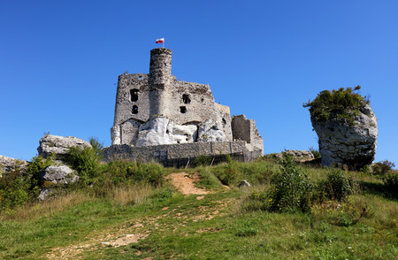 mirow: Ruins of the castle in Mirow Stock Photo