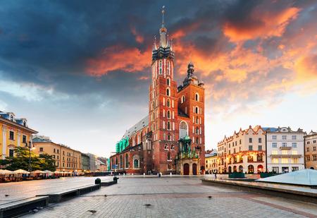 Cracovia centro storico, Polonia Archivio Fotografico - 64541408