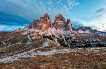 sella: Mountain landscape - Tre Cime di Lavaredo, Dolomites, Italy