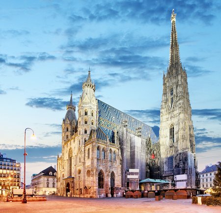 historic architecture: Vienna - St. Stephan cathedral, Austria, Wien