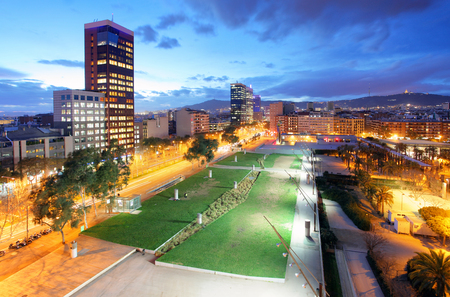 carrer: View of  skyscraper on Carrer de Tarragona Street, Barcelona