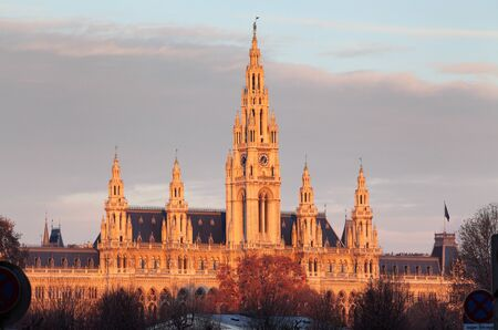 cityhall: Vienna City Hall, Wiener Rathaus, Austria
