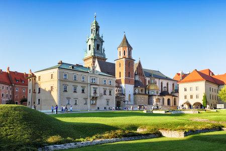 wawel: Krakow castle Wawel at sunset