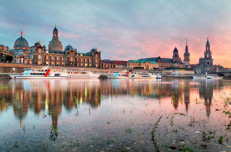 dresden: Dresden at sunset, Germany Stock Photo