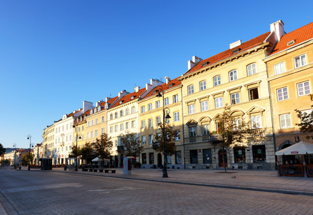 Warsaw, Poland, 20,August 2016 ; Krakowskie Przedmiescie street , part of the Royal Route in the city of Warsaw, Poland.