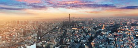 パリのスカイラインのパノラマ