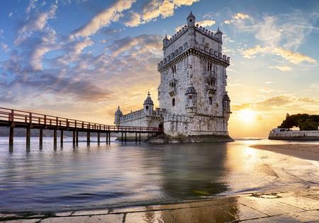 リスボン、ベレンの塔 - テージョ川、ポルトガル 写真素材 - 73036588