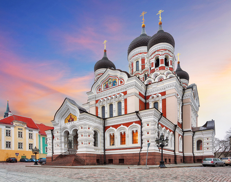 Tallinn, Alexander Nevsky Cathedral, Estonia Stock Photo