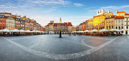 Warsaw, Old town square at summer, Poland, nobody Reklamní fotografie