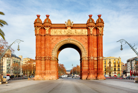 Triumph Arch of Barcelona in a summer day in Barcelona, Spain Stock Photo