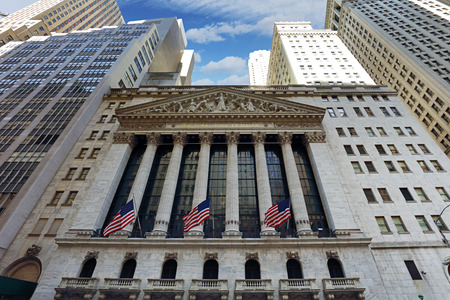 NEW YORK CITY - APRIL 5: New York Stock Exchange closeup on April 5, 2016 in Manhattan, New York City. It is the worlds largest stock exchange by market capitalization of its listed companies. Editorial