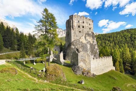 Ruins of Burg Buchenstein Castle - Burg Andraz, Dolomites, Italy