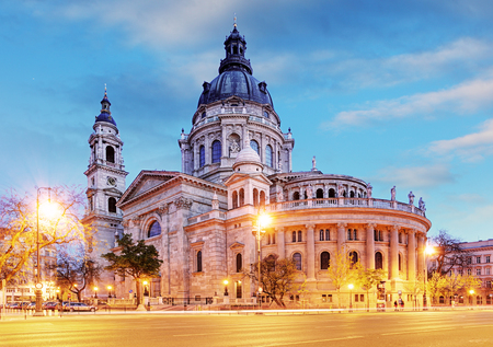 St. Stephen's Basilica in Budapest, Hungary 스톡 콘텐츠