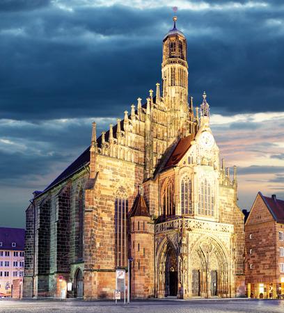 Nuremberg Hauptmarkt - cathedral  , Bavaria, Germany