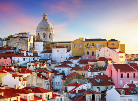 포르투갈,리스 보아 - 구시 가지 알 파마 스톡 콘텐츠
