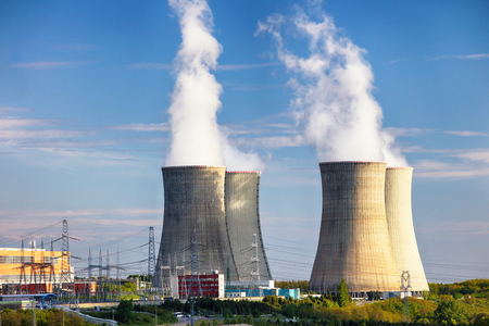 Nuclear power plant at day Stock Photo
