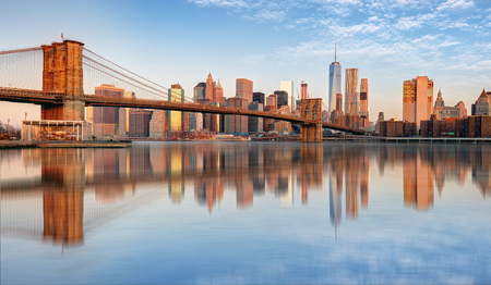 Lower Manhattan with brooklyn bridge, NYC