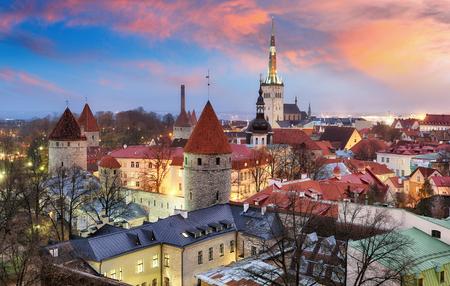 탈린 도시, 에스토니아 일출