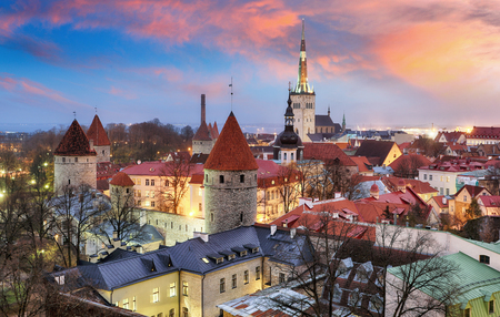 Tallin city, Estonia at sunrise