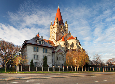 francis: St. Francis of Assisi Church in Vienna, Austria.