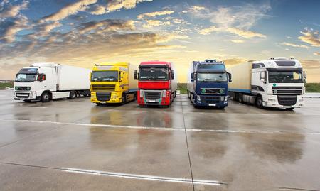 Trucks - Cargo Transport, Transportation Фото со стока