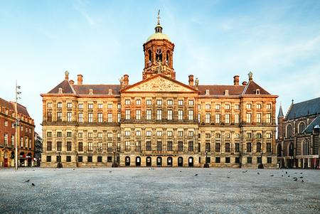 Palais Royal à Amsterdam, Pays-Bas Banque d'images - 84493776