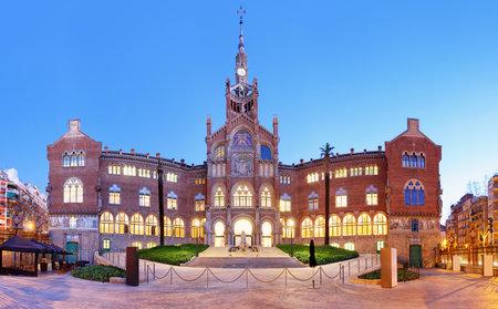 Hospital of the Holy Cross and Saint Paul, (Hospital de la Santa Creu i de Sant Pau), Barcelona. Editorial