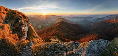Mountain at sunset Reklamní fotografie