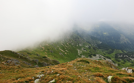 Mountain in clouds, Low Tatras Reklamní fotografie