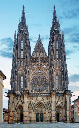 Prague - St. Vitus cathedral in Castle Reklamní fotografie