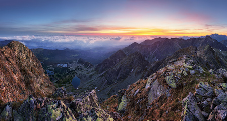 Mountain landcape panorama at summer in Poland Tatras near Zakopane from peak Swinica Reklamní fotografie
