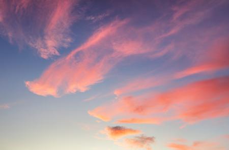 Red sky with blue clouds Reklamní fotografie