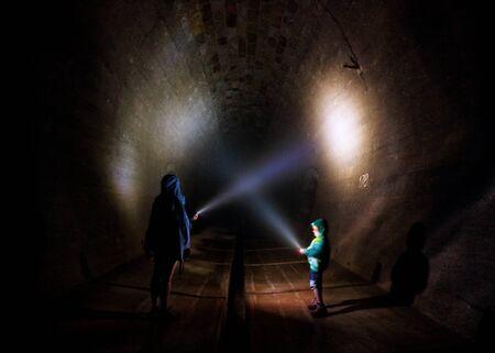 Light in tunnel Reklamní fotografie