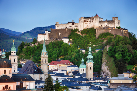 Austria, Salzburg city skyline